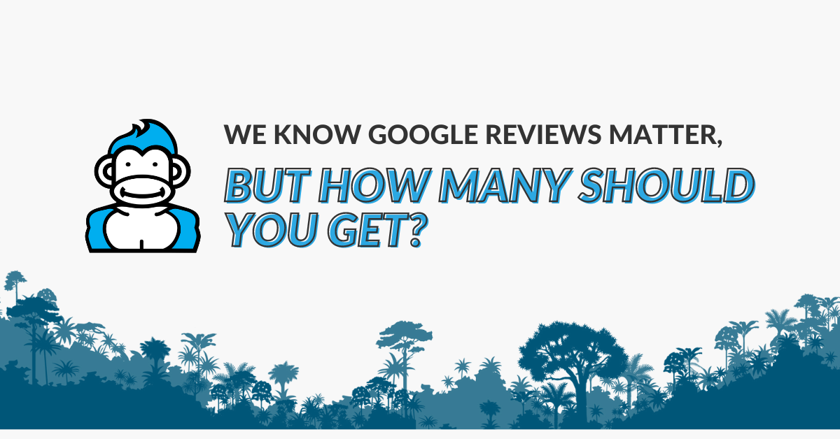 "Image displaying the guide title ""We know Google reviews matter, but how many should you get"""