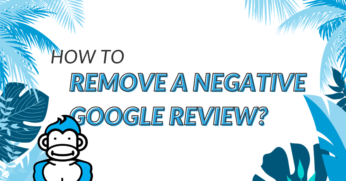 "Image displaying the guide title ""How to remove a negative Google Review?"""